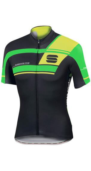 Sportful Gruppetto Pro Team lyhythihainen ajopaita , vihreä/musta